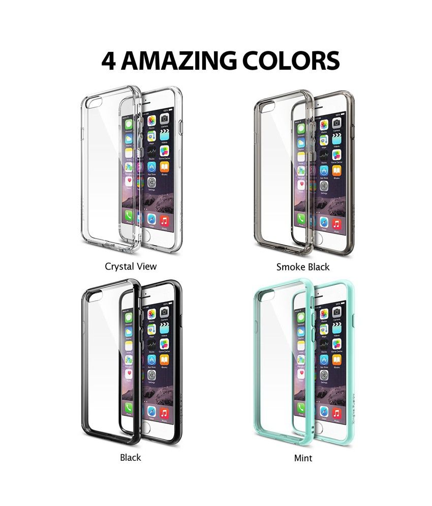 Rearth Ringke Fusion Back Case For Iphone 6 Smoke Black Plain Samsung Galaxy S6 Crystal View