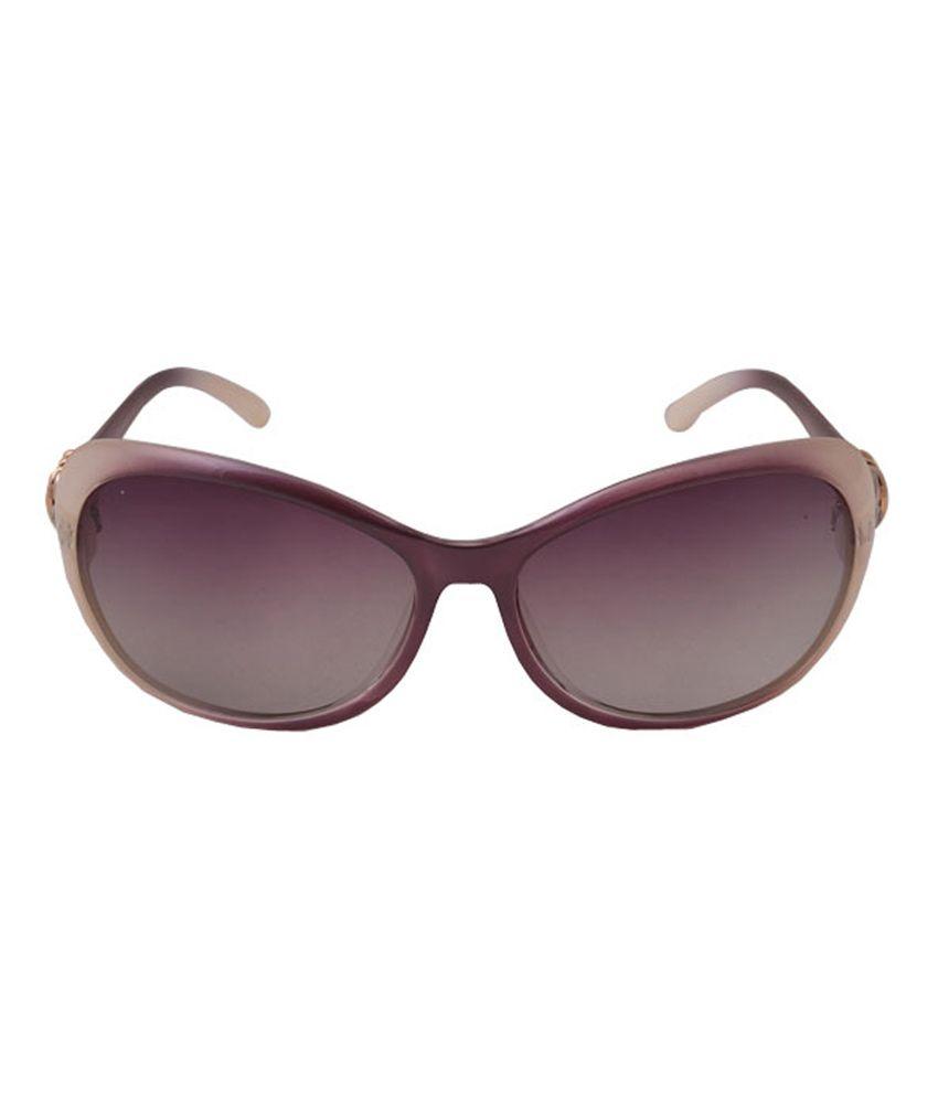Emkay Pink Non Metal Oval Uv Protection Glecks Sunglasses For Women