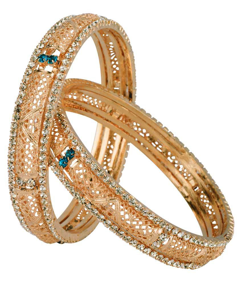 Jac Blue Stoned Stunning Pair Of Bangles