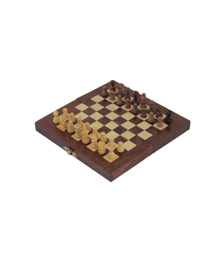 Crafts'man Square Wooden Folding Chess With Storage