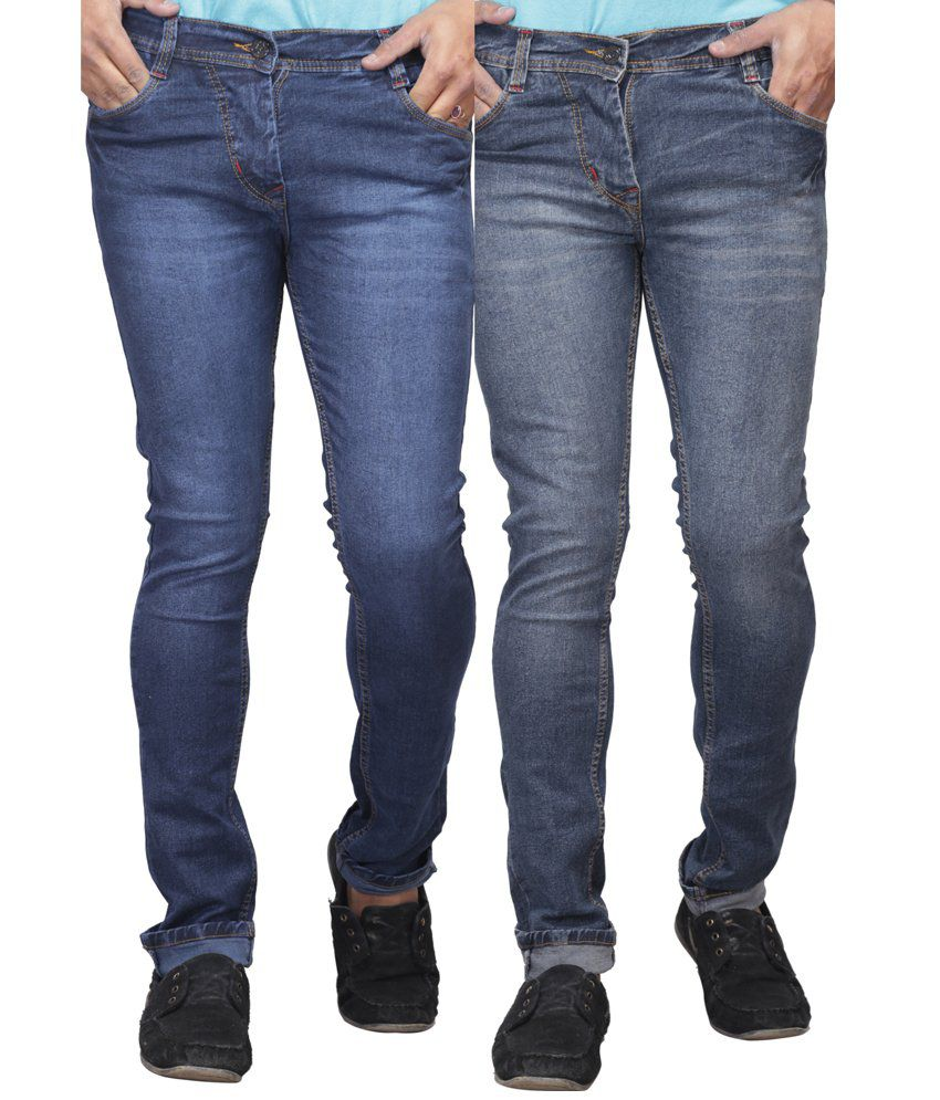 X-cross Pack Of 2 Blue Streachable Jeans