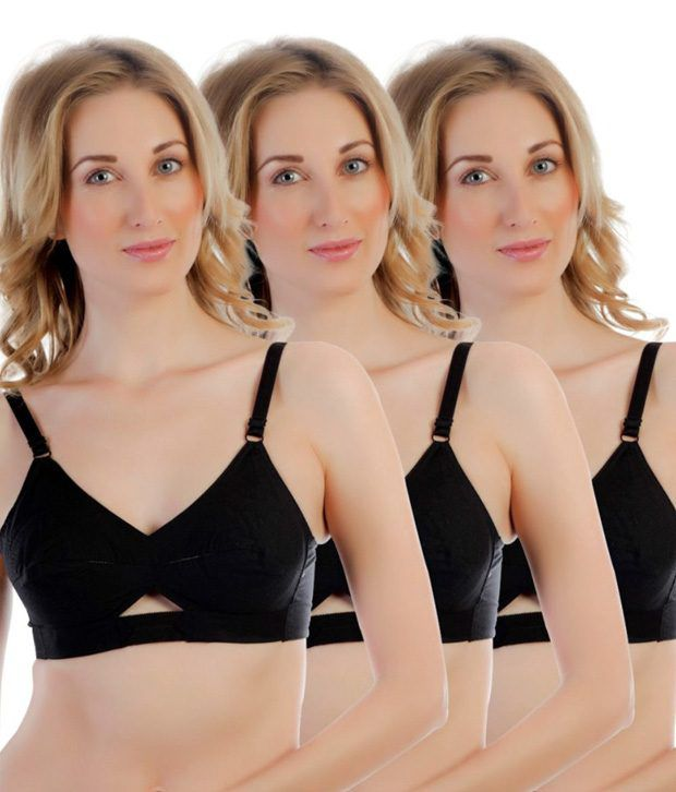5dffc6713 Buy Centra Multi Color Cotton Bra Pack of 3 Online at Best Prices in ...
