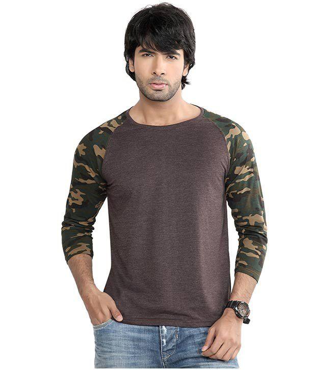 D.o. Green Cotton Round Neck T Shirt