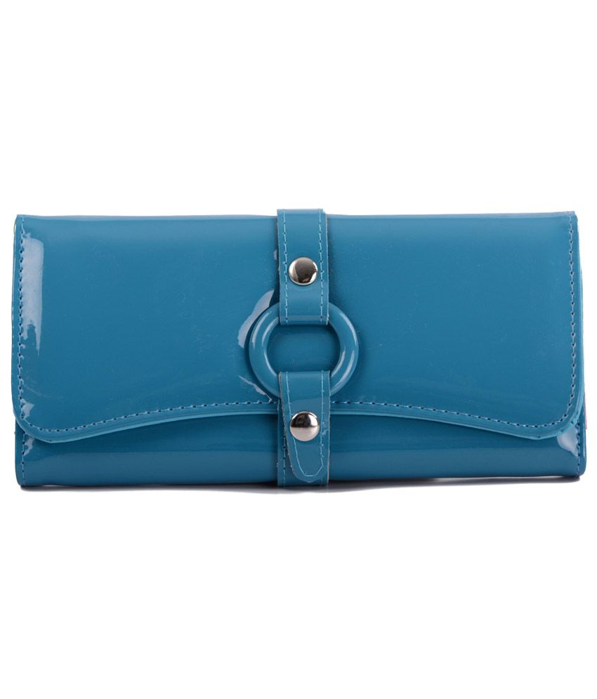 Imported Blue Casual Long Wallet For Women