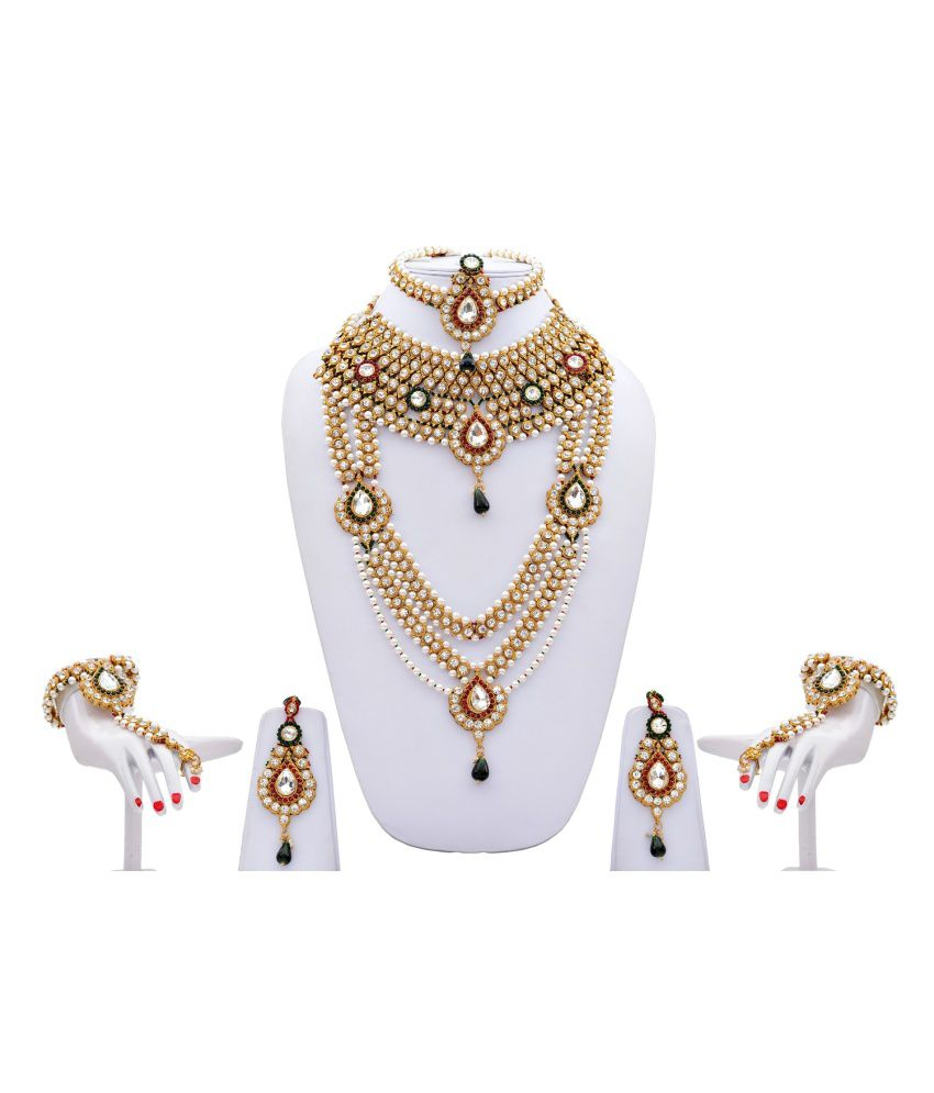 Lucky Jewellery Alloy Bridal Set