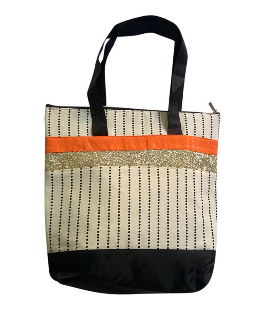 Bags N' More Studio White Canvas Cloth Tote Bag