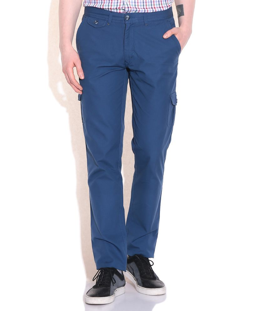 Colorplus Navy Comfort Fit Cargo Trousers