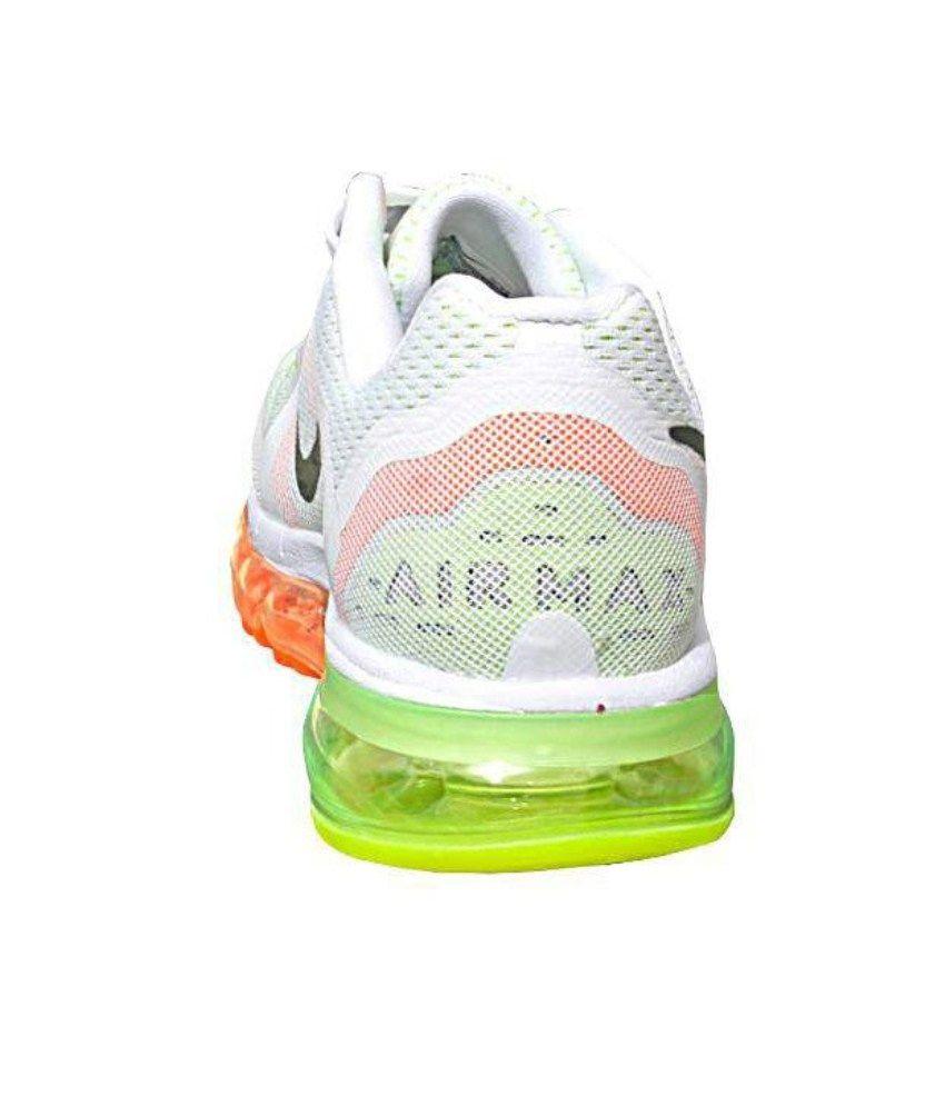 7ce89309655 Nike Airmax 2014 White Orange Green Running Shoes - Buy Nike Airmax ...