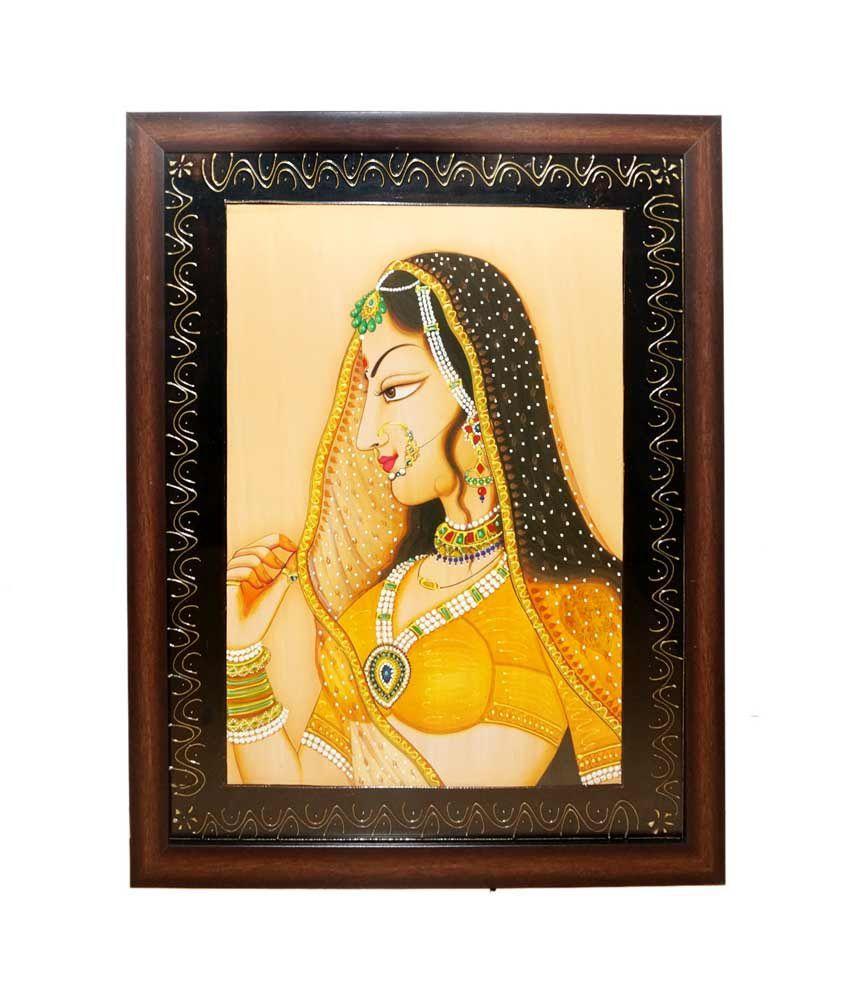 R S Jewels Bani Thani Ladies Gemstone Wall Hanging Painting ...