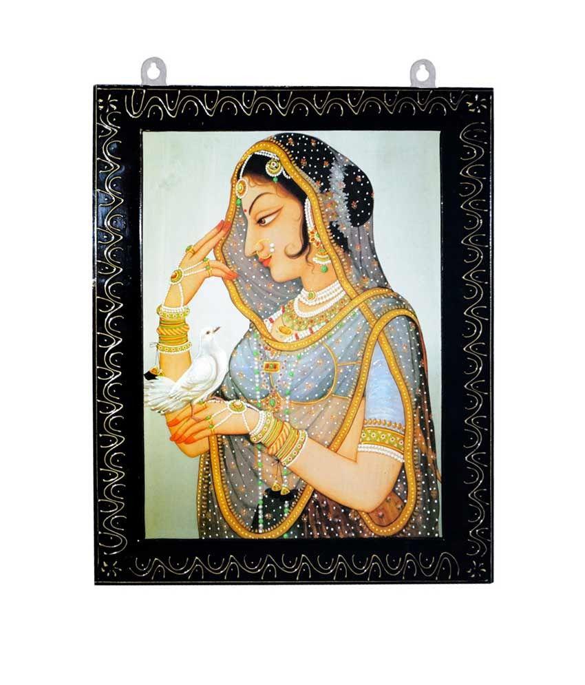 R S Jewels Rajasthani Bani Thani Handmade Designer Wooden Painting