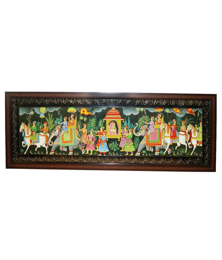 R S Jewels Rural With Frame Indian Rajasthani Shai Wedding Bridal Doli Painting