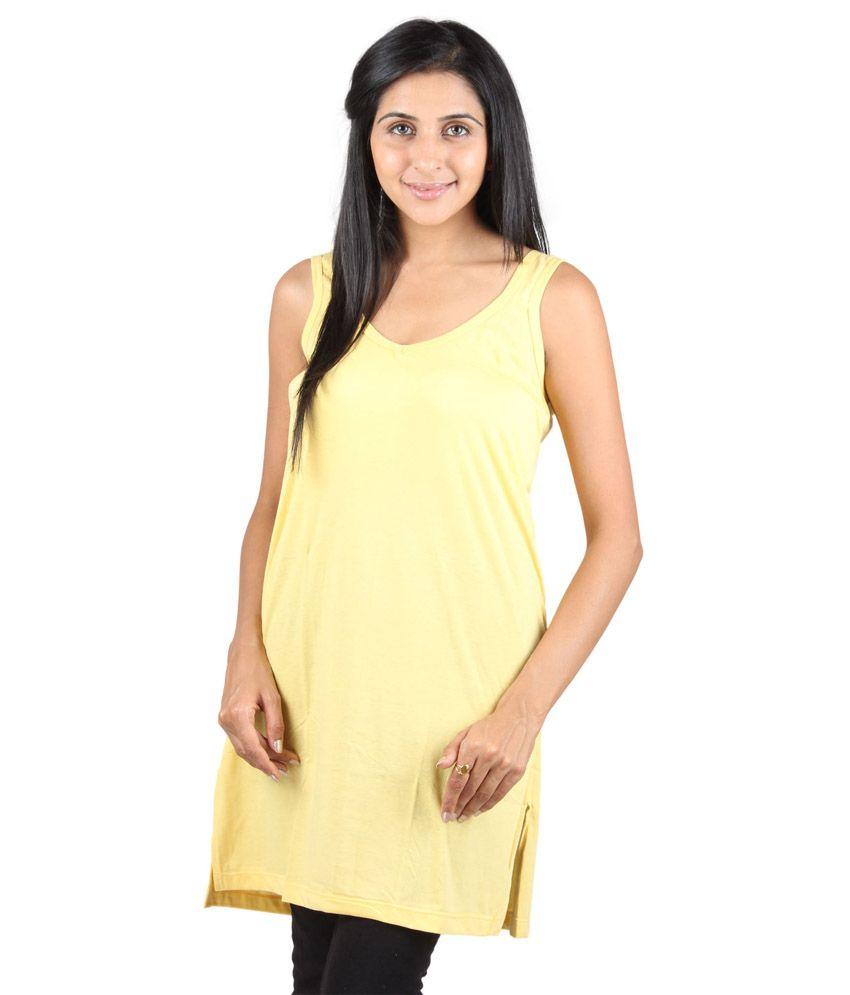 Splash Yellow Non-padded Slip For Women