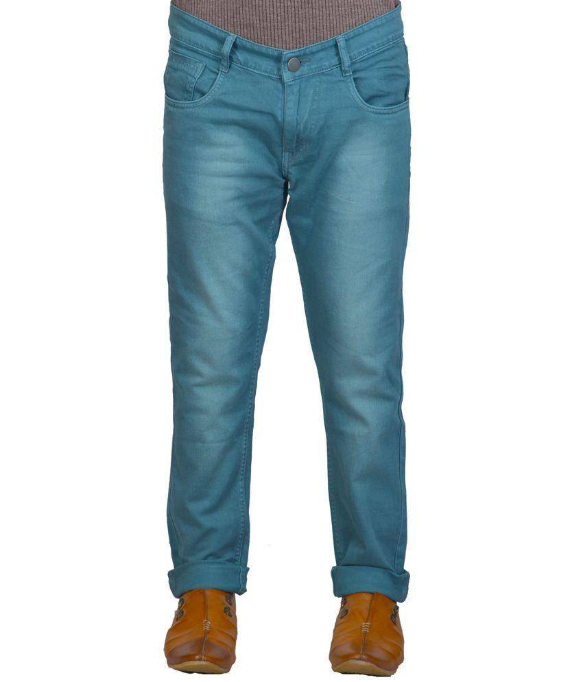 X-CROSS Blue Regular Fit Faded