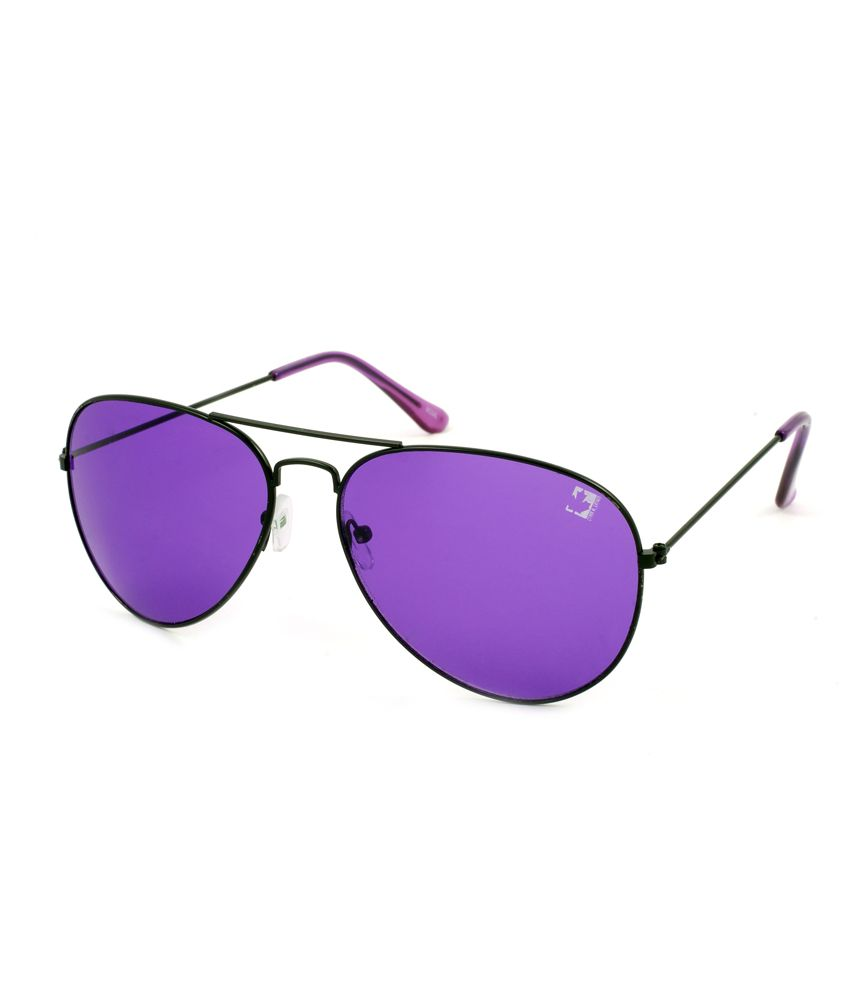 2b8d9d69a8 Clark N  Palmer Purple Lens Black Frame Aviator Sunglasses - Buy Clark N   Palmer Purple Lens Black Frame Aviator Sunglasses Online at Low Price -  Snapdeal