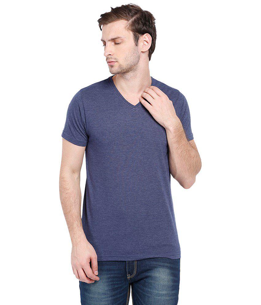 Highlander Amazing Blue Half Sleeves Basic T Shirt