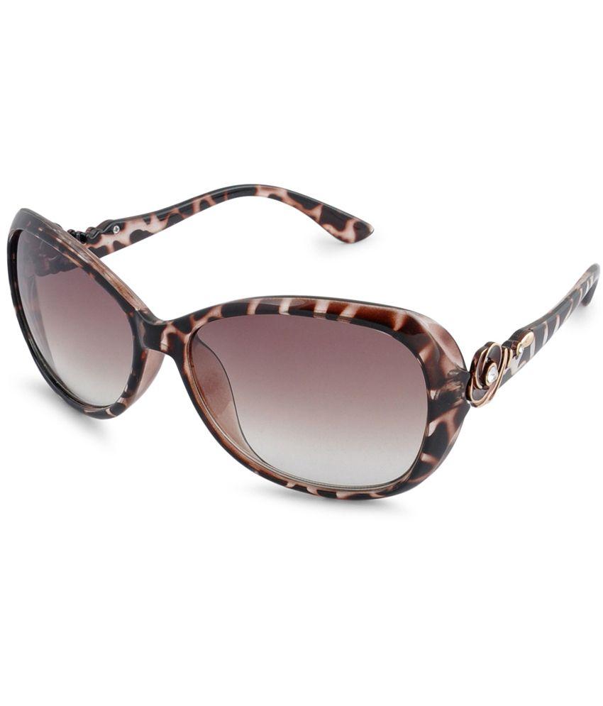 Stol'n Maroon Uv Protection Designer Oval Shape Sunglasses