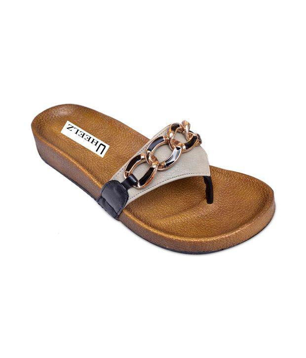 Uheelz Black Partyware Women's Sandal