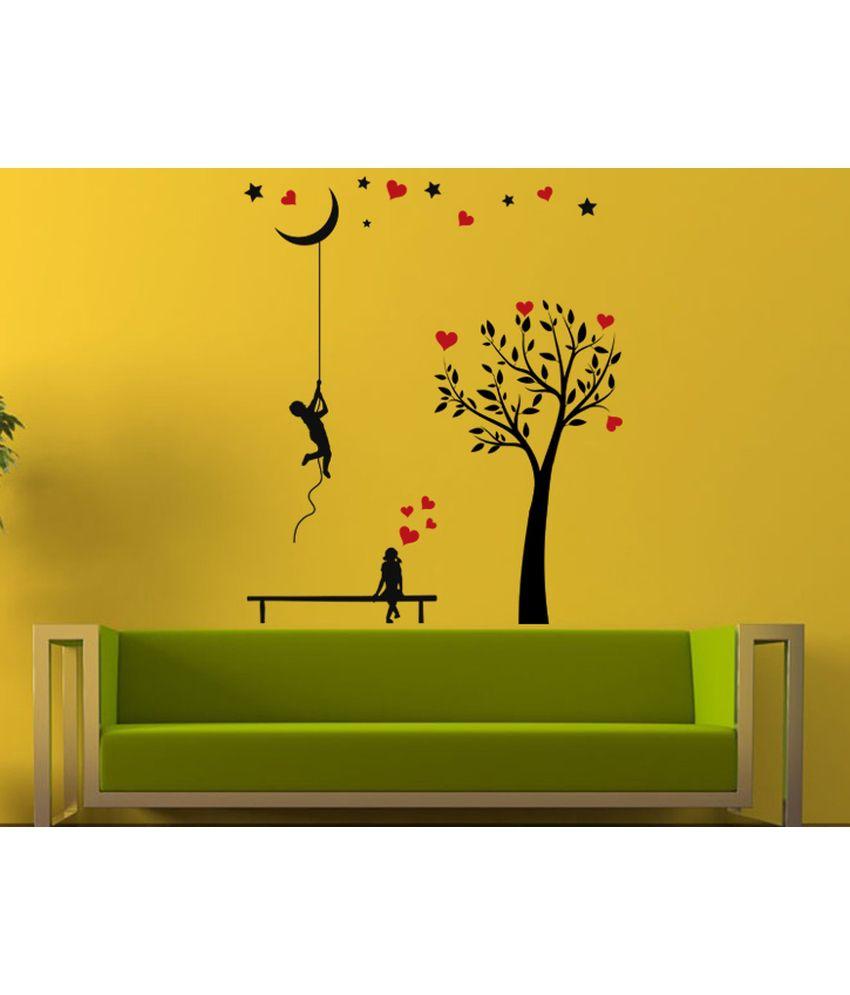 Hoopoe Decor Boy Bringing Moon Down For His Love Wall Arts, Wall ...