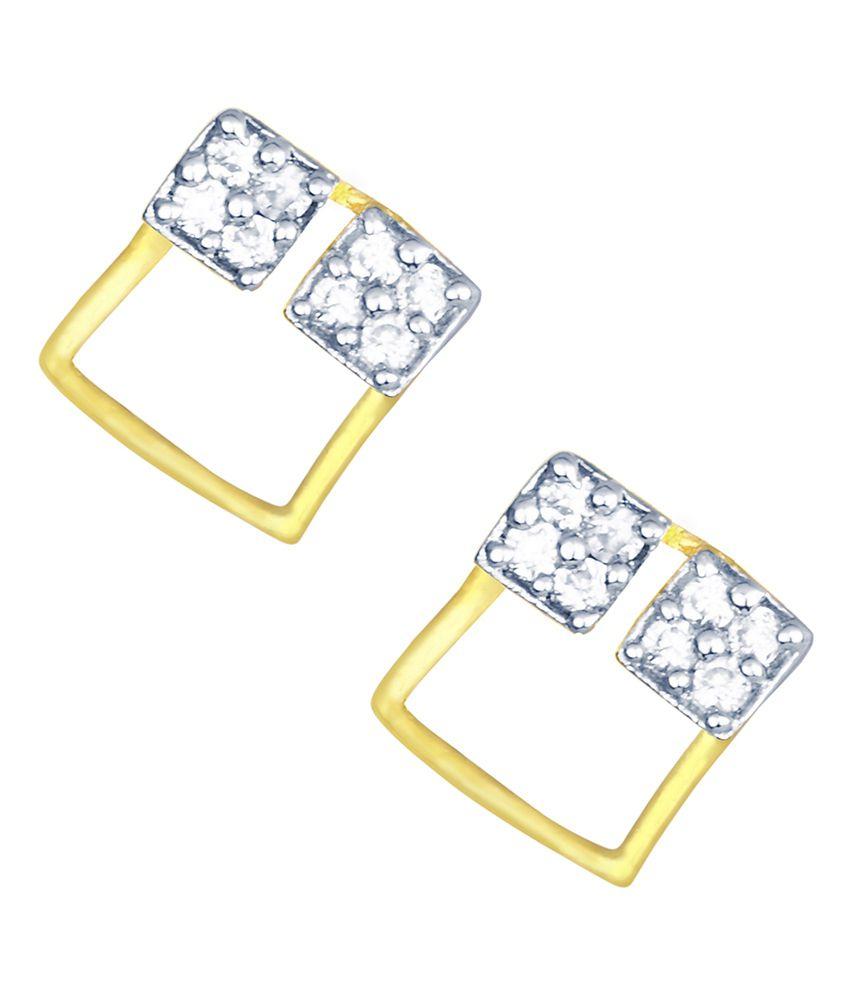 Kaizer Economica Gold Alloy Office Wear Earrings