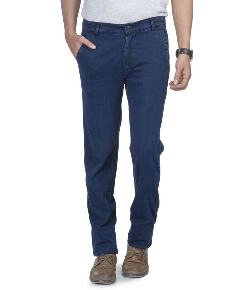 Wintage Blue Cotton Slim Jeans