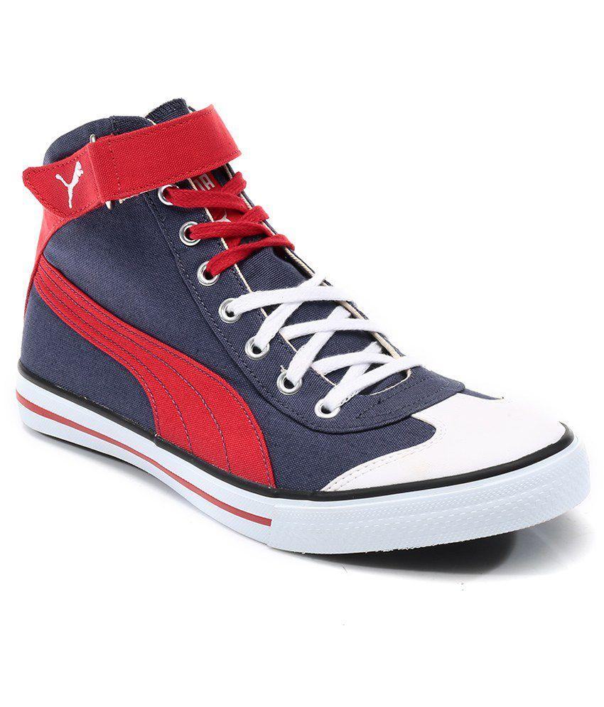 Puma Blue Shoes Men