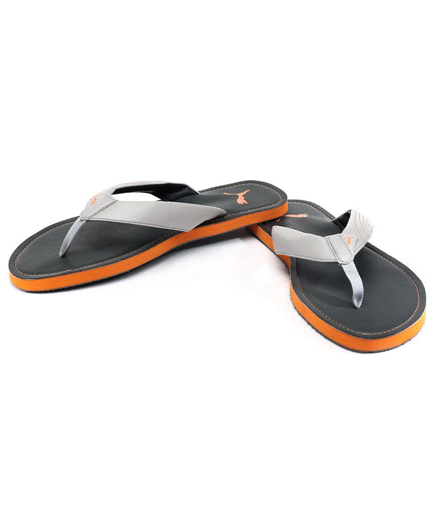 3dea1d02d2fbd7 Puma Ketava Dp Gray Flip Flops Price in India- Buy Puma Ketava Dp ...