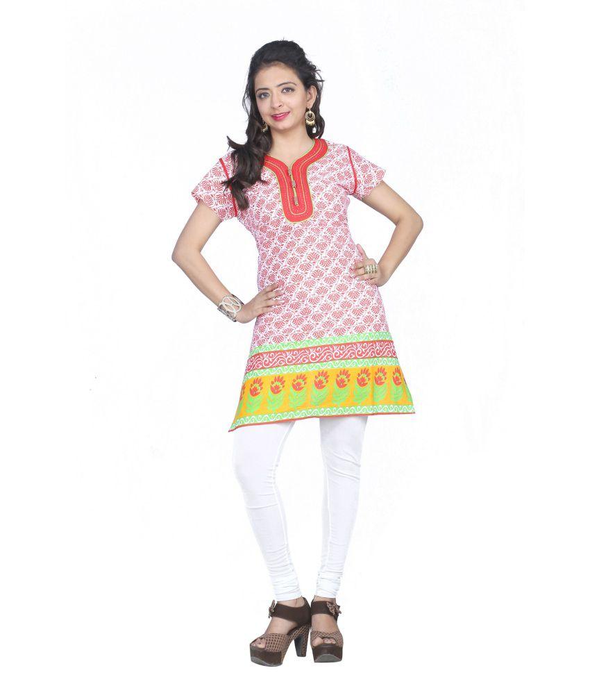 Swarrnapankh Cotton Printed Kurti