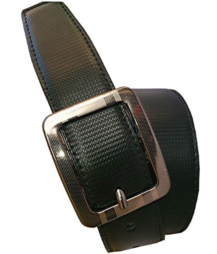 Wholesome Deal Brown And Black Non Leather Pin Buckle Belt