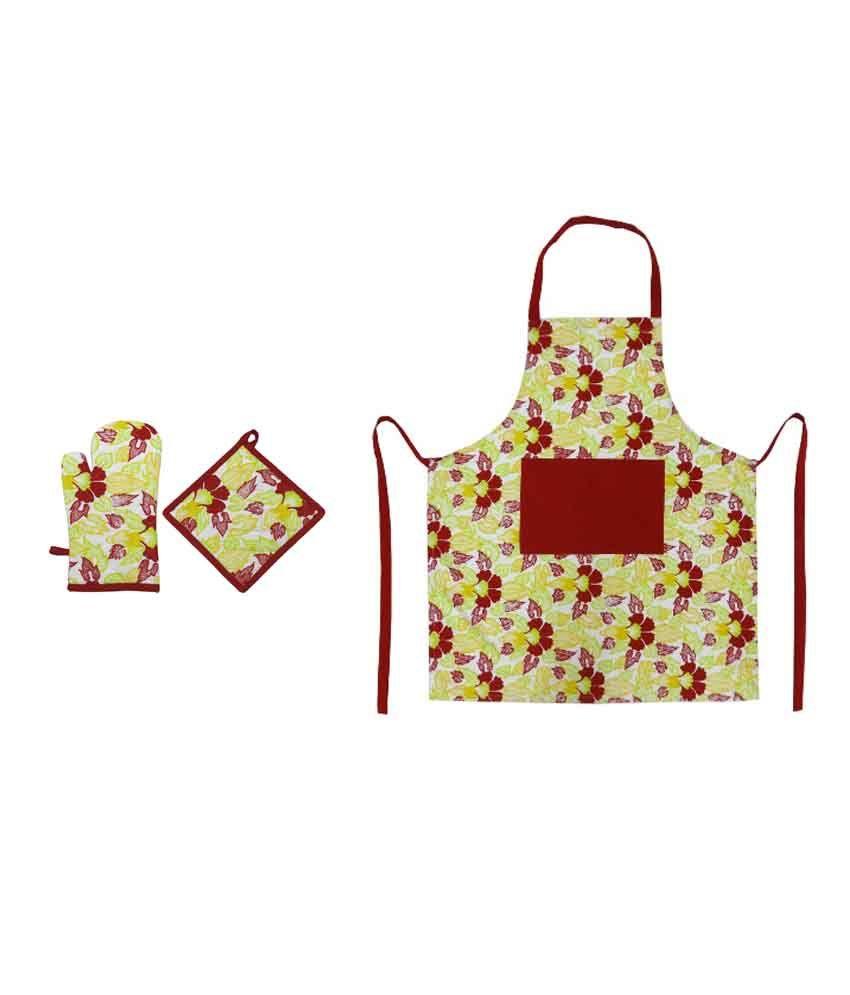 Kitchen Linen Set: Cotonex Printed Cotton Kitchen Linen Set