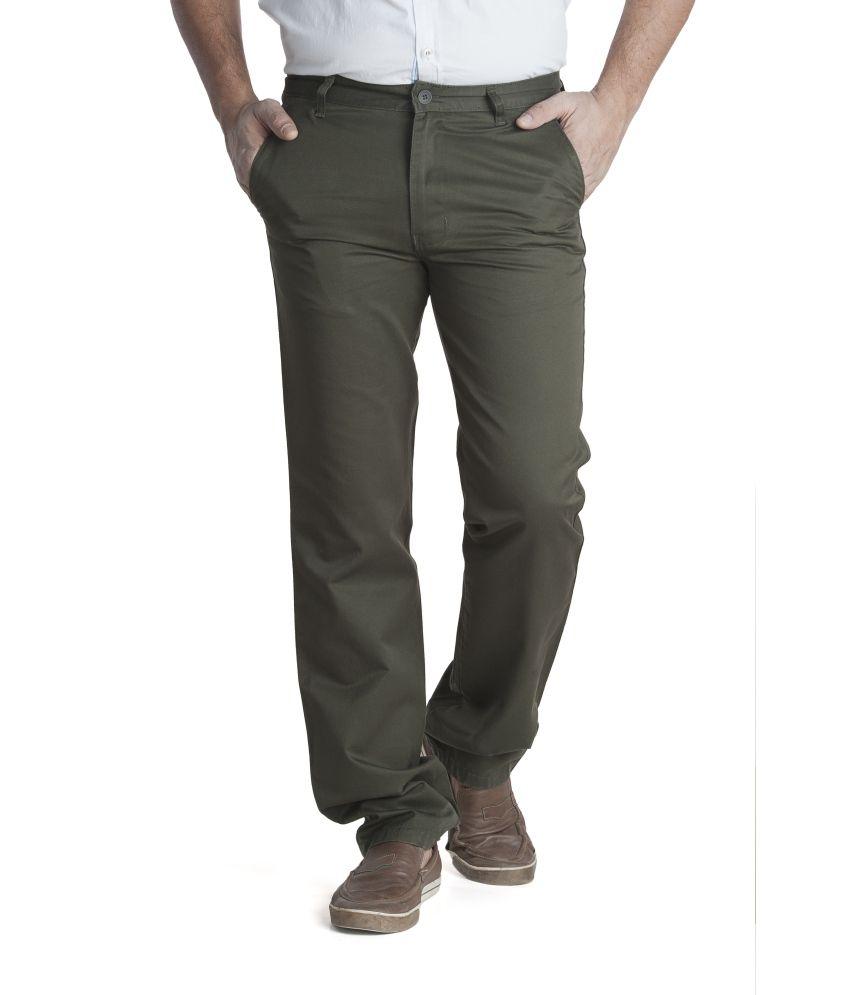 Zync9 Green Cotton Trousers