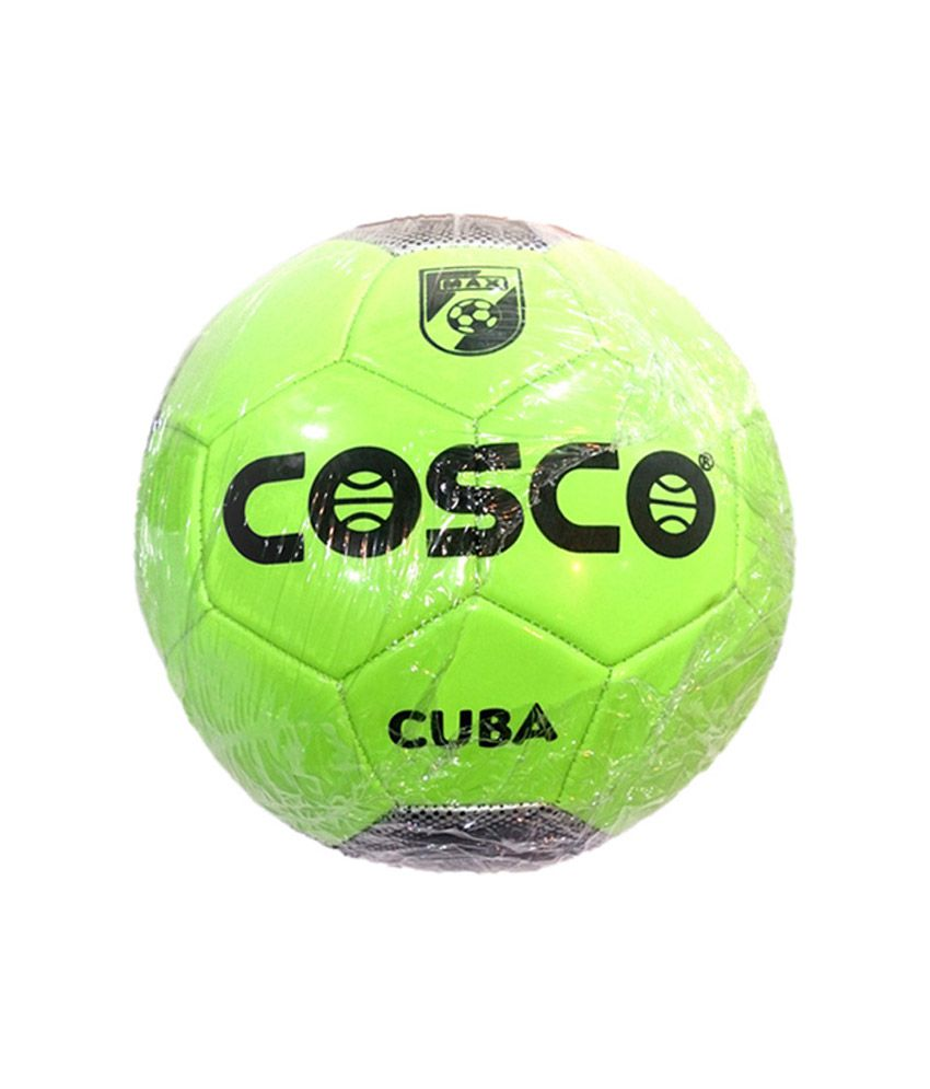 Cosco Green Size 5 Cuba Football / Ball