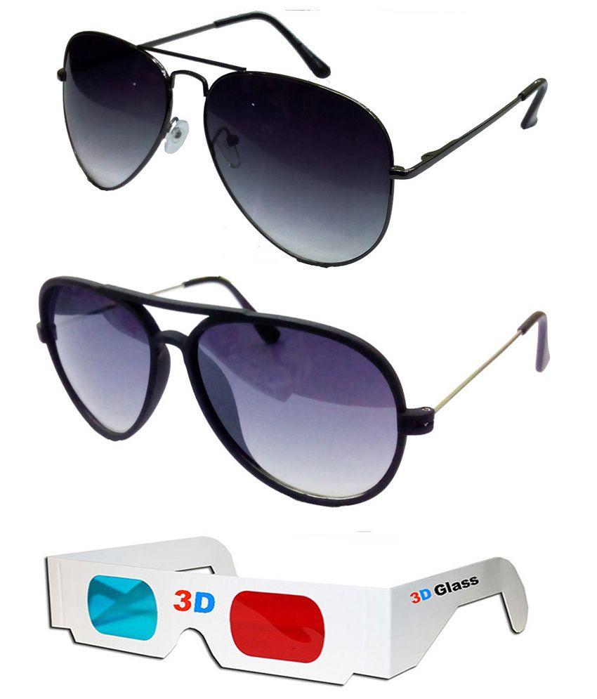 Hrinkar - Brown,Gray Pilot Sunglasses ( )
