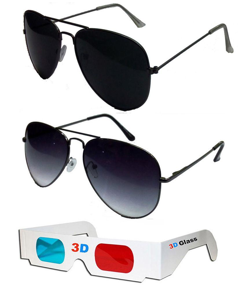 Hrinkar - Black,Gray Pilot Sunglasses ( )