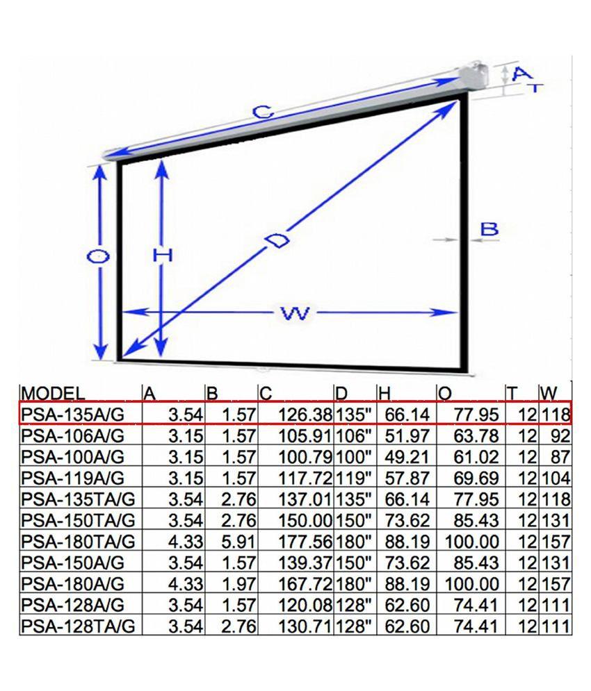 Buy Telon Wall Type Projector Screen Size: - 96 In. X 96 ...