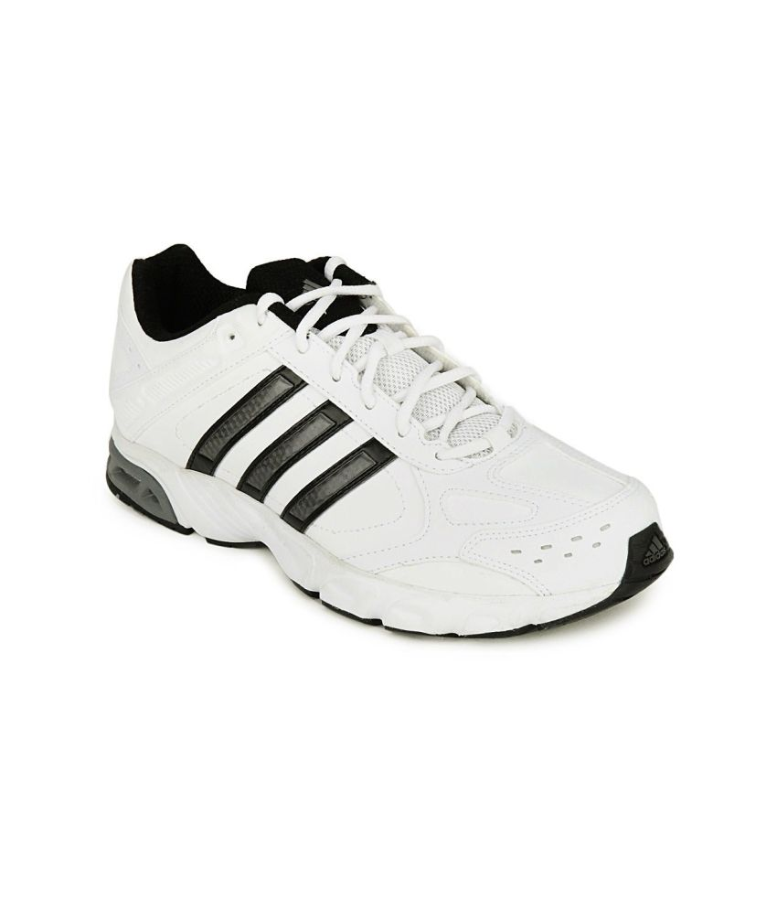 Adidas White And Black Impulse Syn M Men Sports Shoes