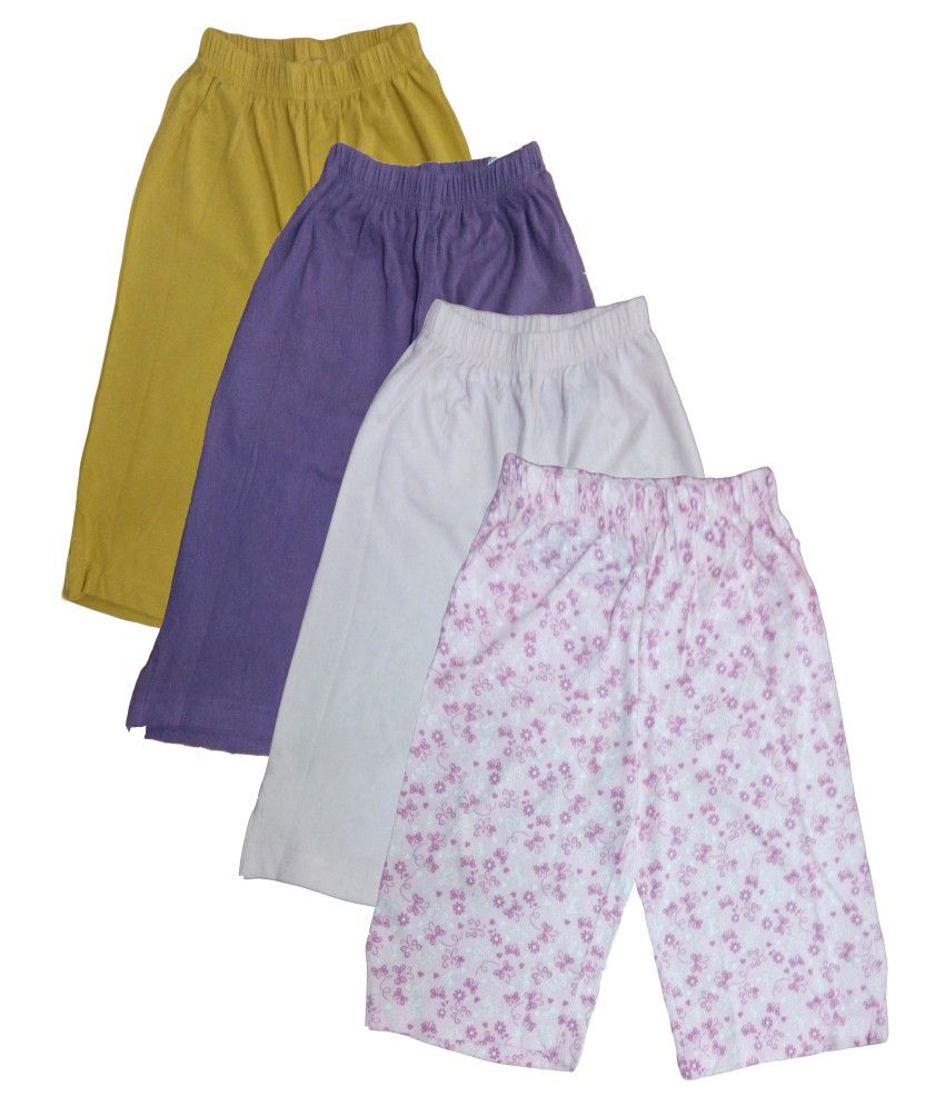 Instyle Girl Cotton Capri - Pack Of 4