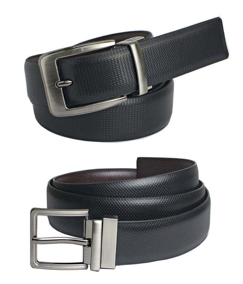 Saugat Traders Reversible black - brown belt for mens