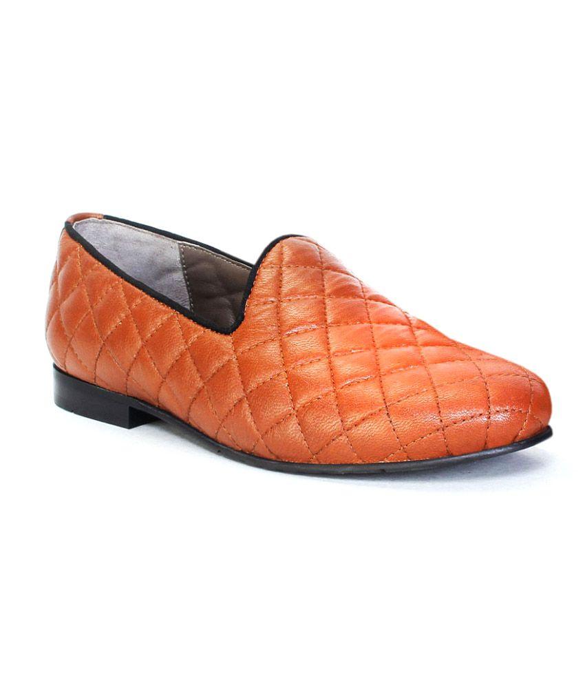 Bareskin Tan Loafers