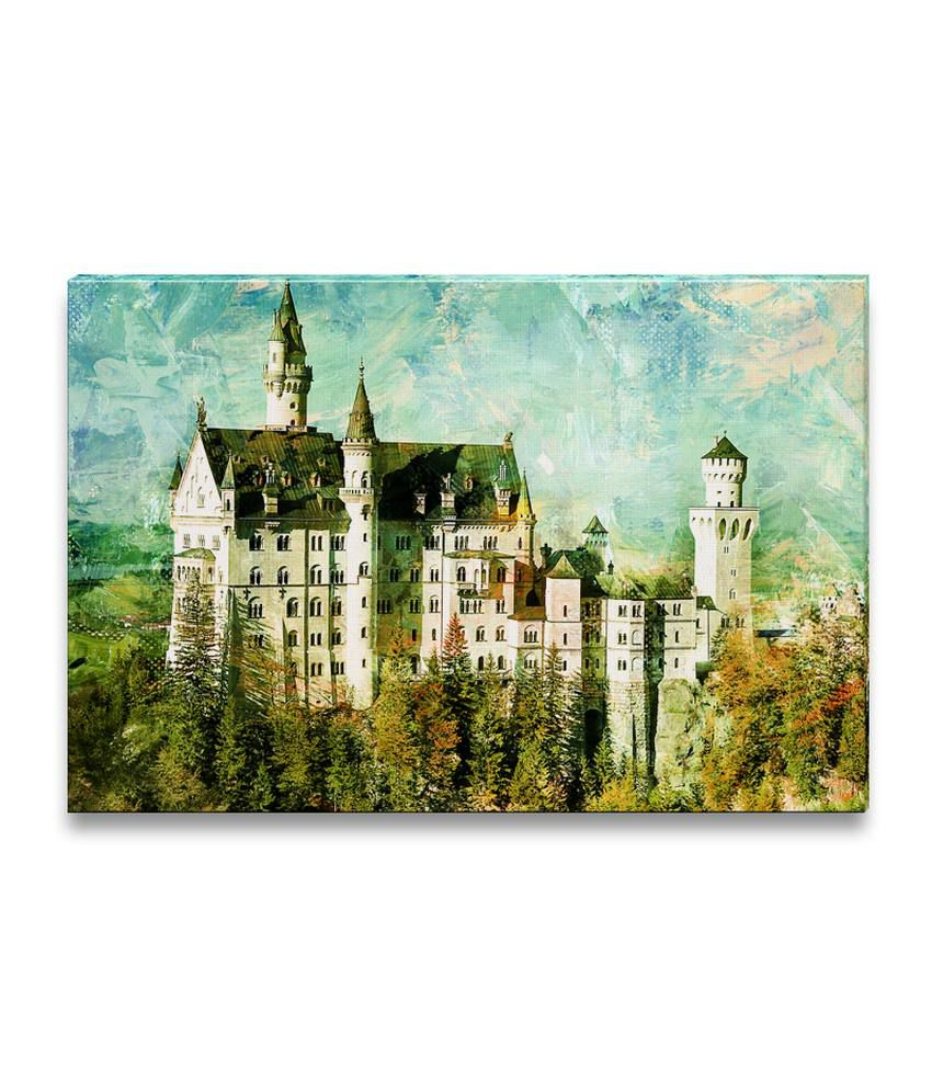 Ezyprnt Neuschwanstein Castle Painting Wall Hanging