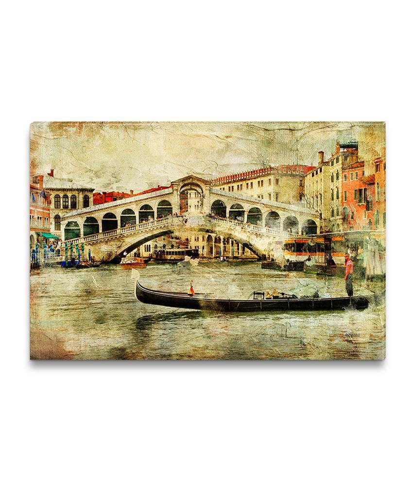 Ezyprnt Rialto Bridge Painting Wall Hanging