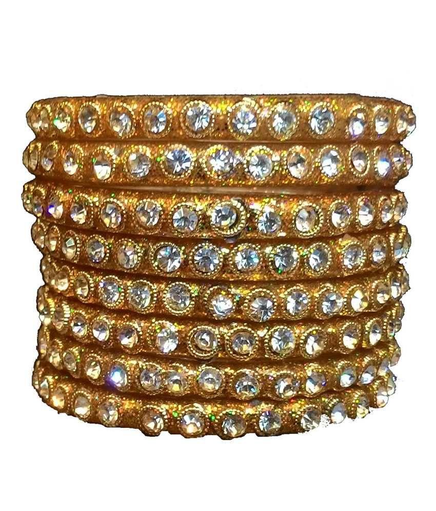 Shivam Gold Australian Diamond Party Wear Kada