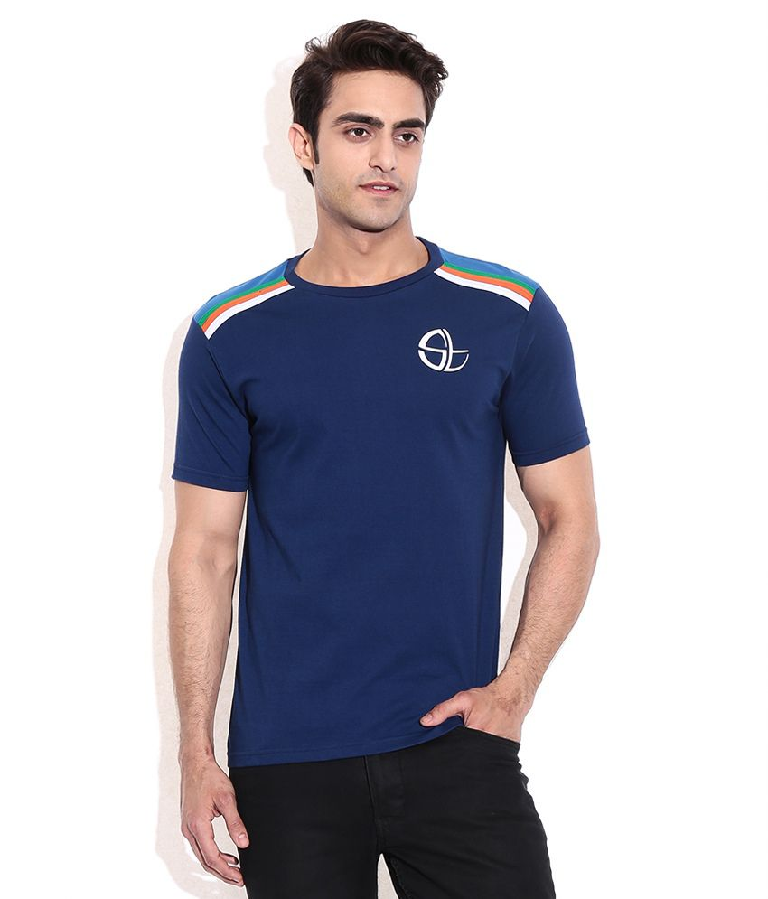Collectabillia Sachin Tri Color Shoulder T-Shirt
