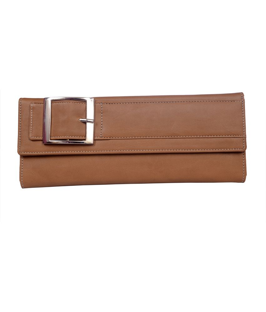 Top-zone Brown Non Leather Women Casual Long Wallet