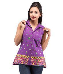 Goodwill Impex Purple Cotton Shirts