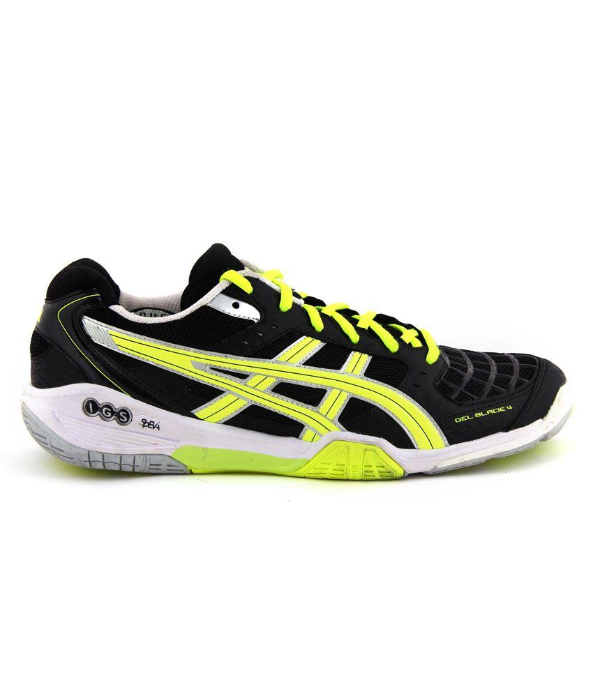 d7cb5a59662 Asics Men Black Badminton Sports Shoes Gel-Blade 4 - Buy Asics Men ...
