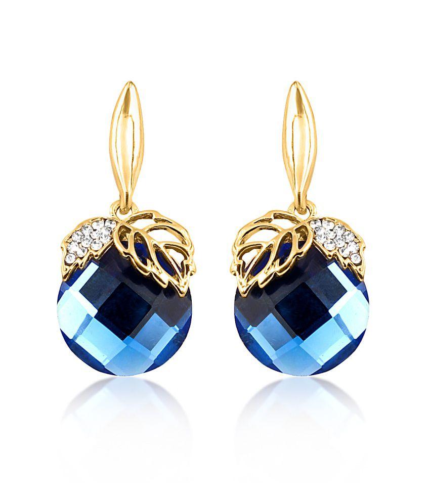 Big Tree Blue Delicate Earring For Women
