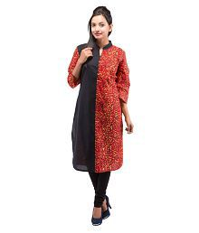 Goodwill Impex Women's Casual Fire Printed Cotton Kurta