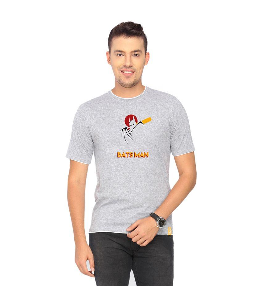 Campus Sutra Gray Batsman T-shirt