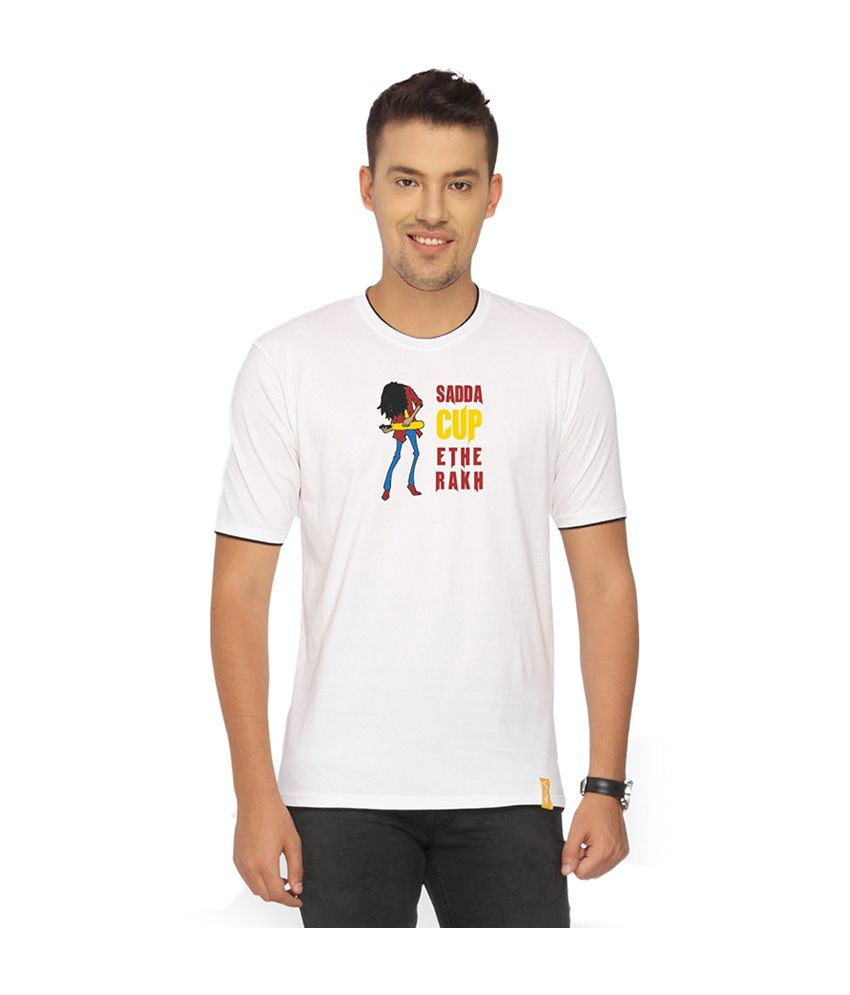 Campus Sutra White Sadda Cup T-shirt