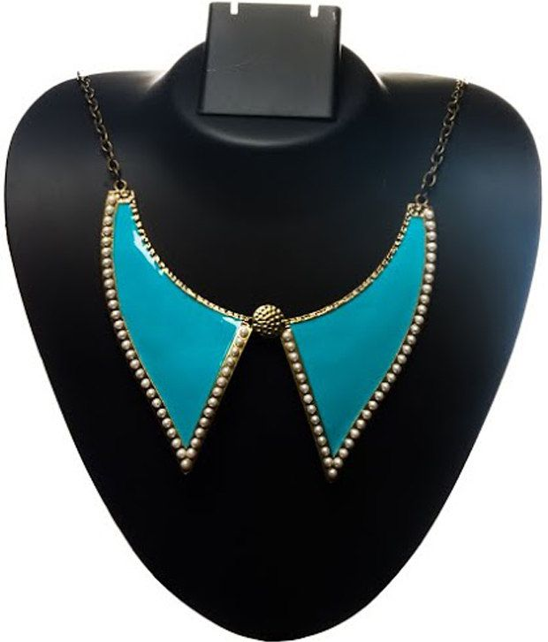 Couture Love Blue Collar Neck Piece